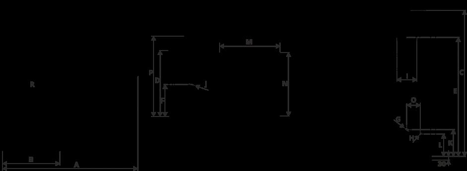 Размеры Котел Metal-Fach SEG 14 кВт с левой подачей