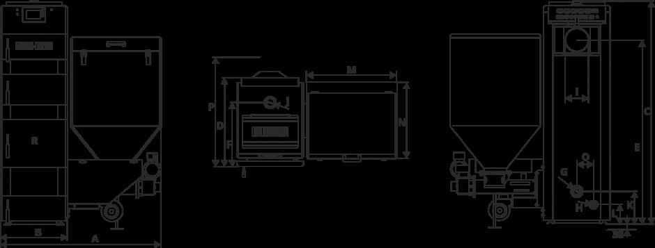Размеры Котел Metal-Fach SD DUO BIO 16 кВт с правой подачей